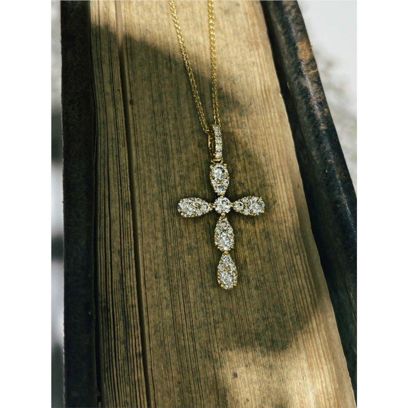 Murphy Pitard Signature Collection Diamond 5/8 Carats Medium Cross Pendant