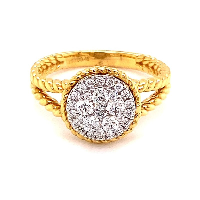 Murphy Pitard Signature Collection Diamond Cluster Ring with Rope Band