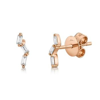Diamond Baguette Climber Earrings