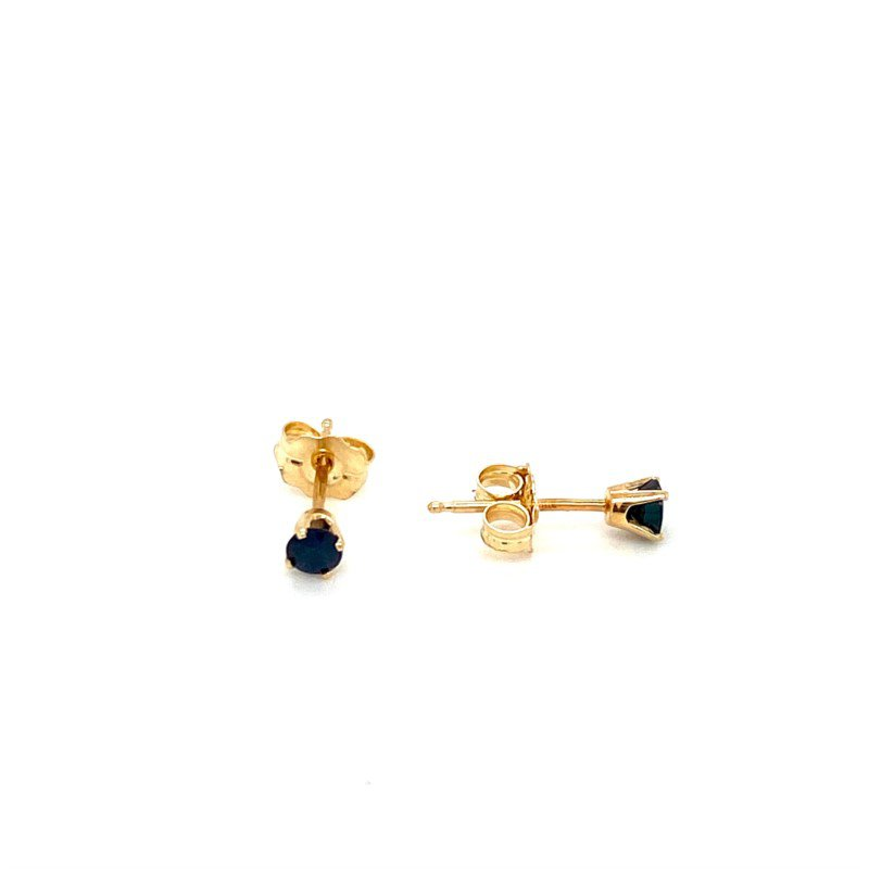 Murphy Pitard Signature Collection Sapphire Stud Earrings
