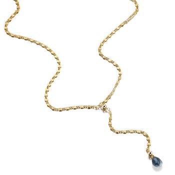 Lina Yaeli Pyrite Lariat Necklace