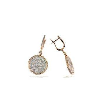 Textured Pavé Diamond Dangle Earrings