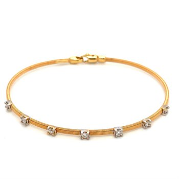 Diamond Station Wire Bangle Bracelet