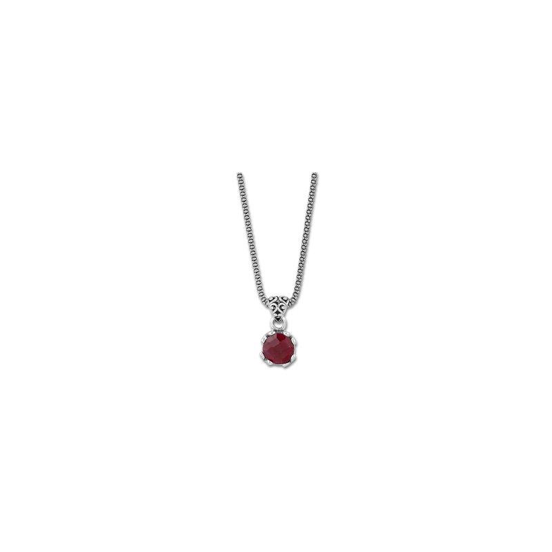 Samuel B. Ruby Drop Pendant Necklace