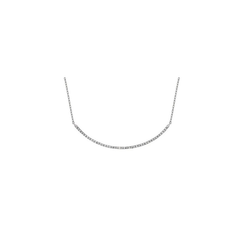 Murphy Pitard Signature Collection Diamond Smile Curved Bar Necklace