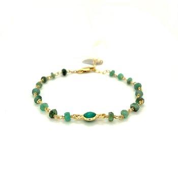 Dayna Emerald Bracelet