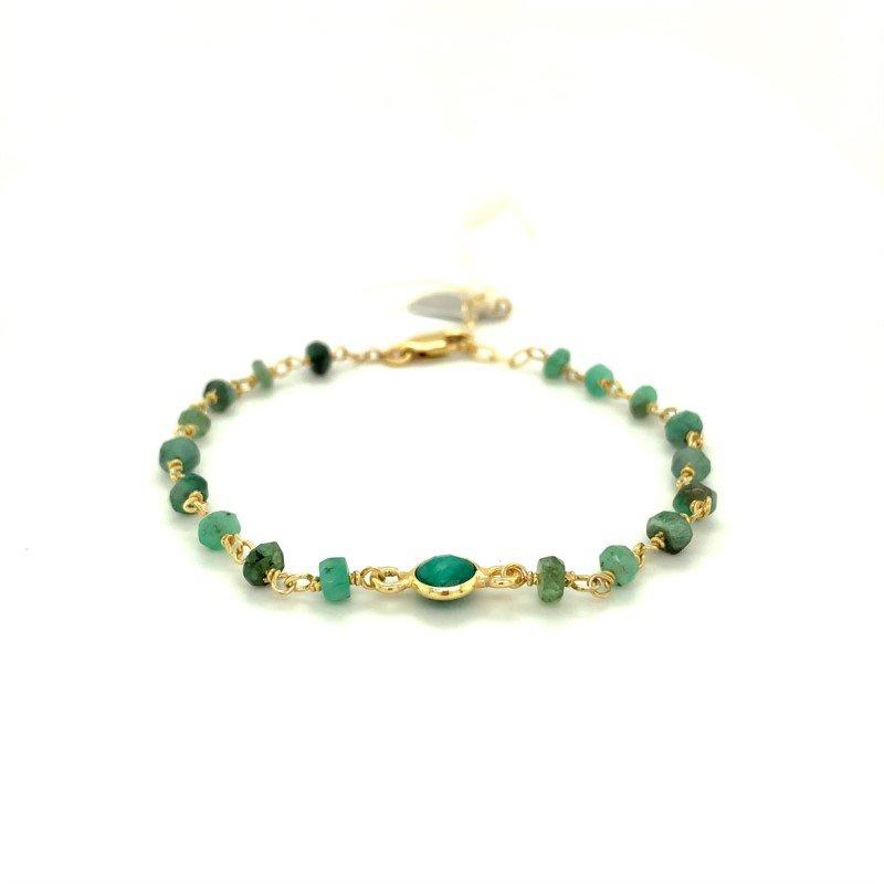 ela rae new york city Dayna Emerald Bracelet