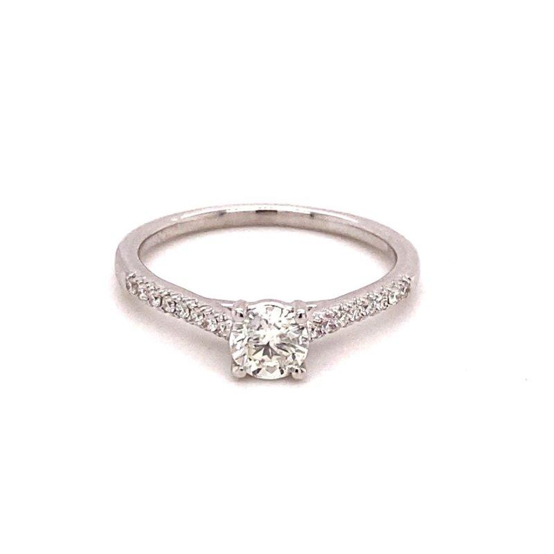 Murphy Pitard Signature Collection Round Diamond 5/8 Carats Diamond Accented Engagement Ring