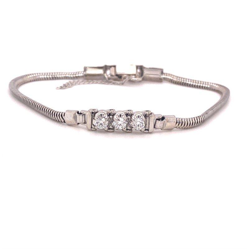 Kaspar and Esh Diamond Add-A-Link Starter Tennis Bracelet