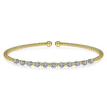 Diamond Bujukan Beaded Station Cuff Bracelet