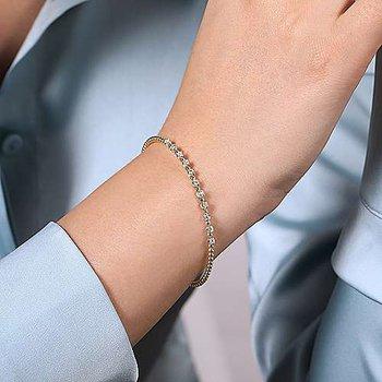 Diamond Bujukan Beaded Station Cuff Bracelet