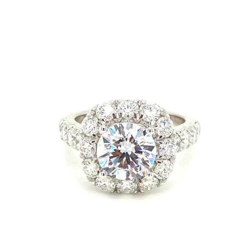 Murphy Pitard Signature Collection Diamond 2.0 Carat Halo Engagement Ring