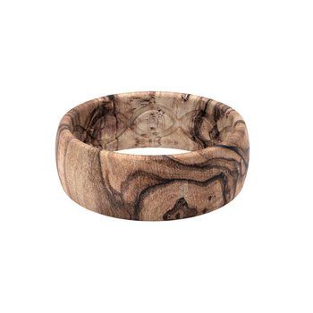 Burled Walnut Silicone Band - Size 10