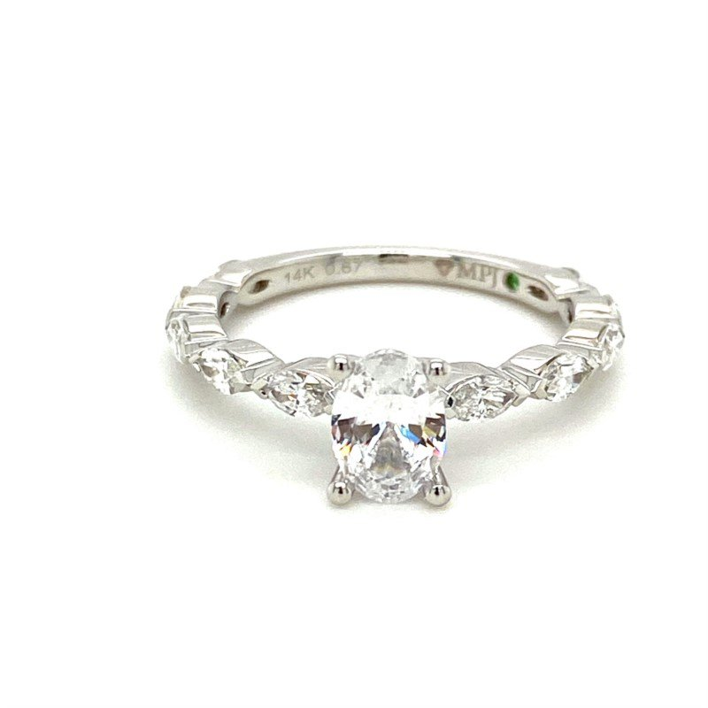 Murphy Pitard Signature Collection Marquise Diamond Oval Center Engagement Ring