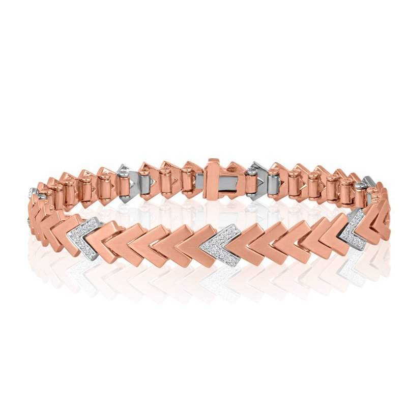 Kaspar and Esh Diamond Chevron Tennis Bracelet