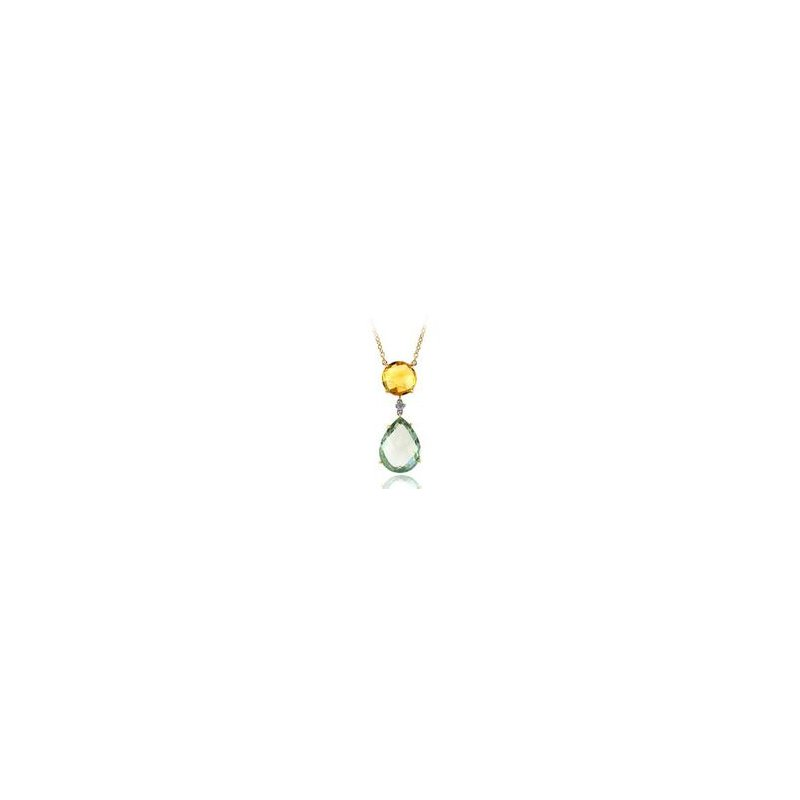 Murphy Pitard Signature Collection Multi-Stone Gemstone and Diamond Necklace
