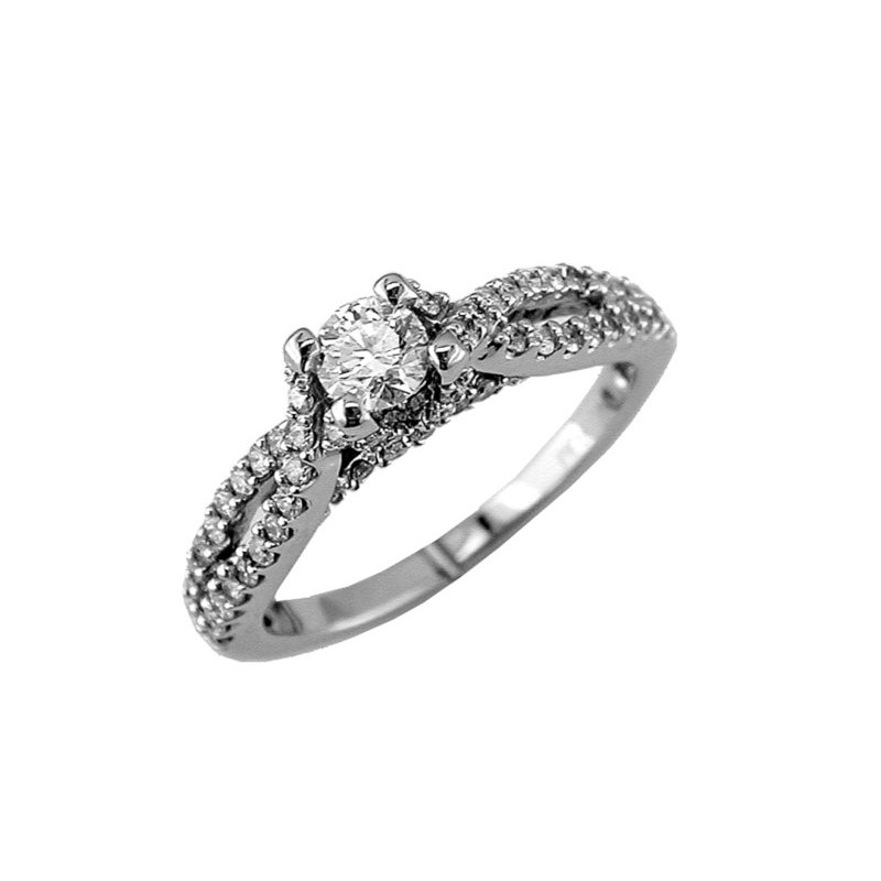 Murphy Pitard Signature Collection Diamond Twist Band Engagement Ring