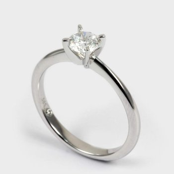 Round Solitaire 1/2 Carats Engagement Ring