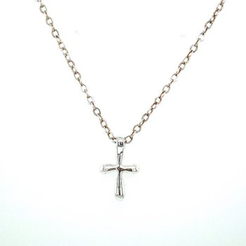 Polished Petite Cross Pendant Necklace