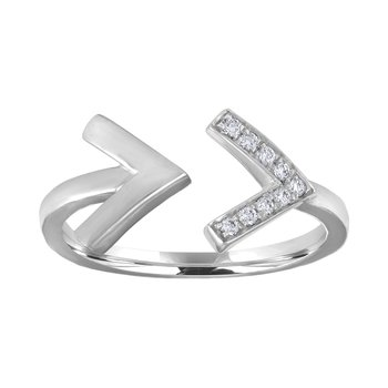 Diamond Chevron Gap Ring