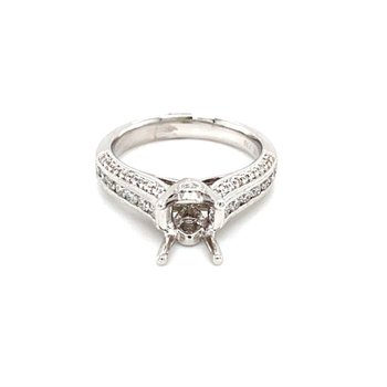 Vintage Inspired Diamond Engagement Ring