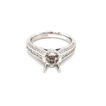 Vintage Inspired Diamond Engagement Ring