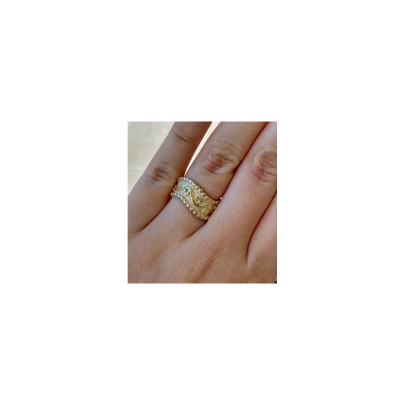 Murphy Pitard Estate Collection Wavy Gold Wide Band