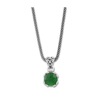 Emerald Drop Pendant Necklace
