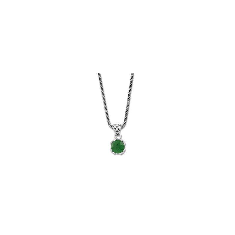 Samuel B. Emerald Drop Pendant Necklace
