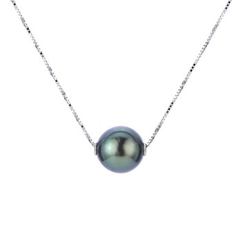 Tahitian Floating Single Pearl Necklace