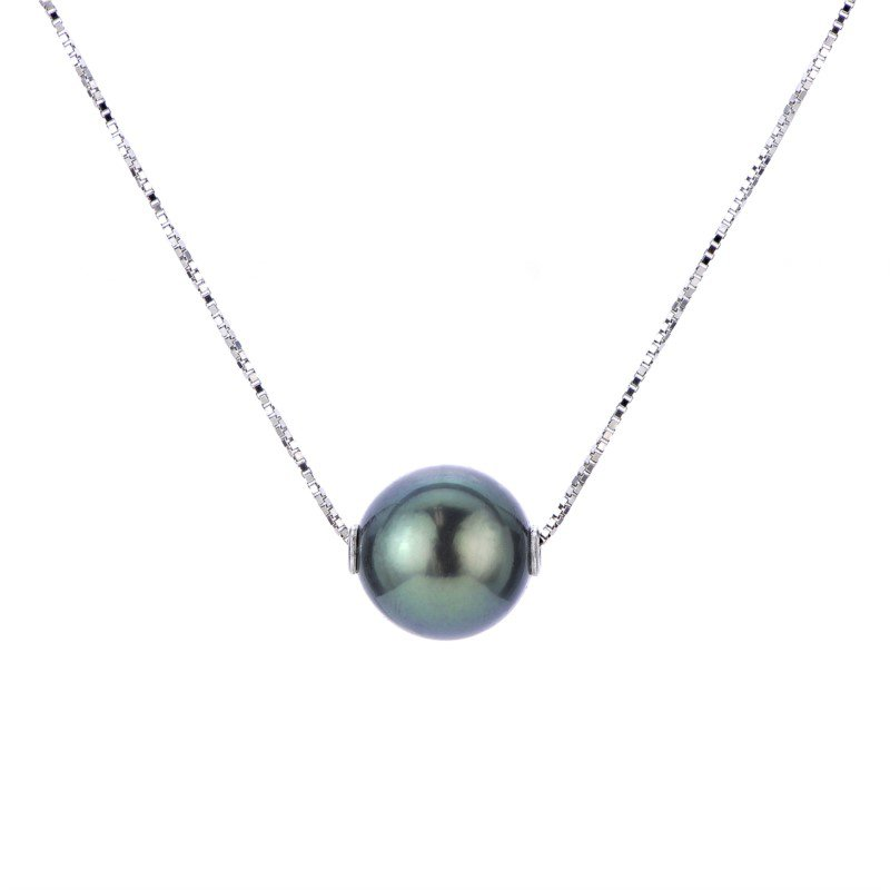 Murphy Pitard Signature Collection Tahitian Floating Single Pearl Necklace