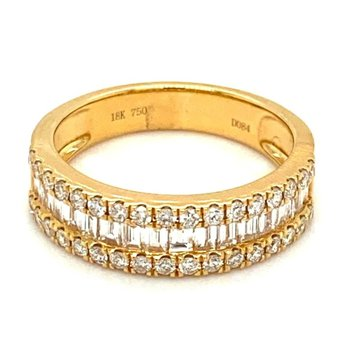 Diamond Round & Baguette Band