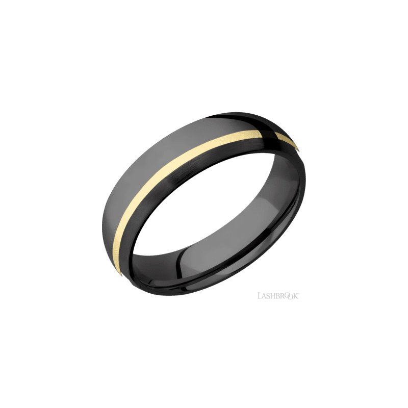 Lashbrook Zirconium Yellow Gold Band