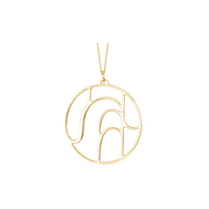 Les Georgettes by Altesse Volute Round Pendant