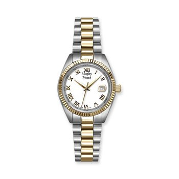 Murphy Pitard Two Tone 30 Millimeter Watch with White Mother of Pearl Dial