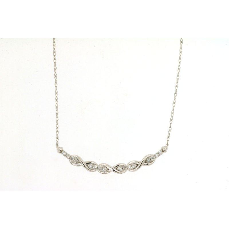 Murphy Pitard Signature Collection Diamond Twist Curve Bar Necklace