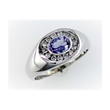 Gents Tanzanite & Diamond Ring