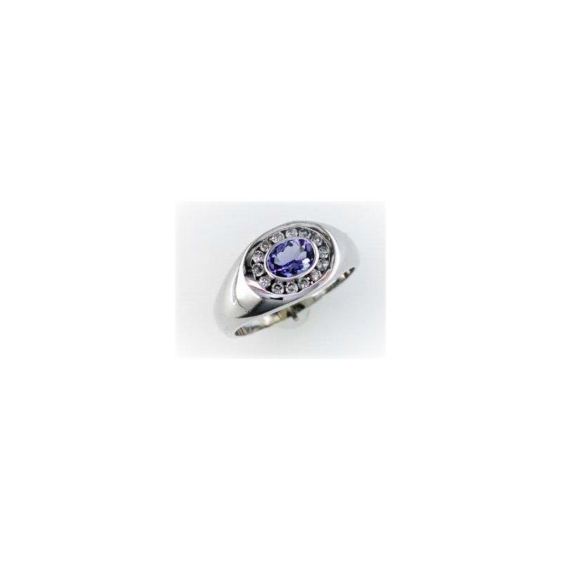 Murphy Pitard Signature Collection Gents Tanzanite & Diamond Ring