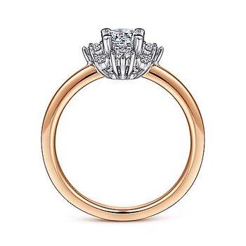 Clarice Round Diamond Engagement Ring