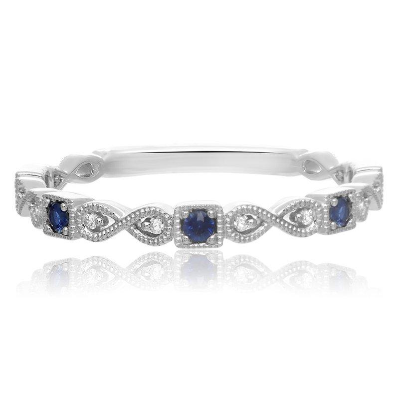 Murphy Pitard Signature Collection Fashion Band with Sapphires & Diamonds