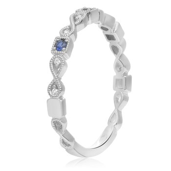 Fashion Band with Sapphires & Diamonds