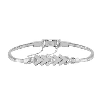 Diamond Add-A-Link Chevron Starter Tennis Bracelet
