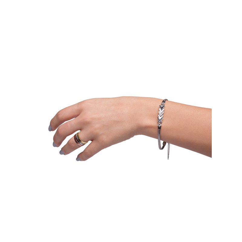 Kaspar and Esh Diamond Add-A-Link Chevron Starter Tennis Bracelet