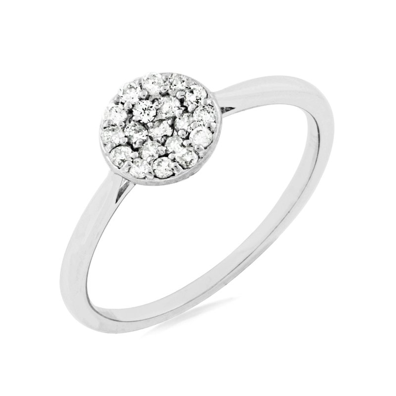 Murphy Pitard Signature Collection Diamond Cluster Engagement Ring
