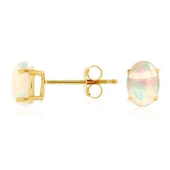 Oval Opal Stud Earrings