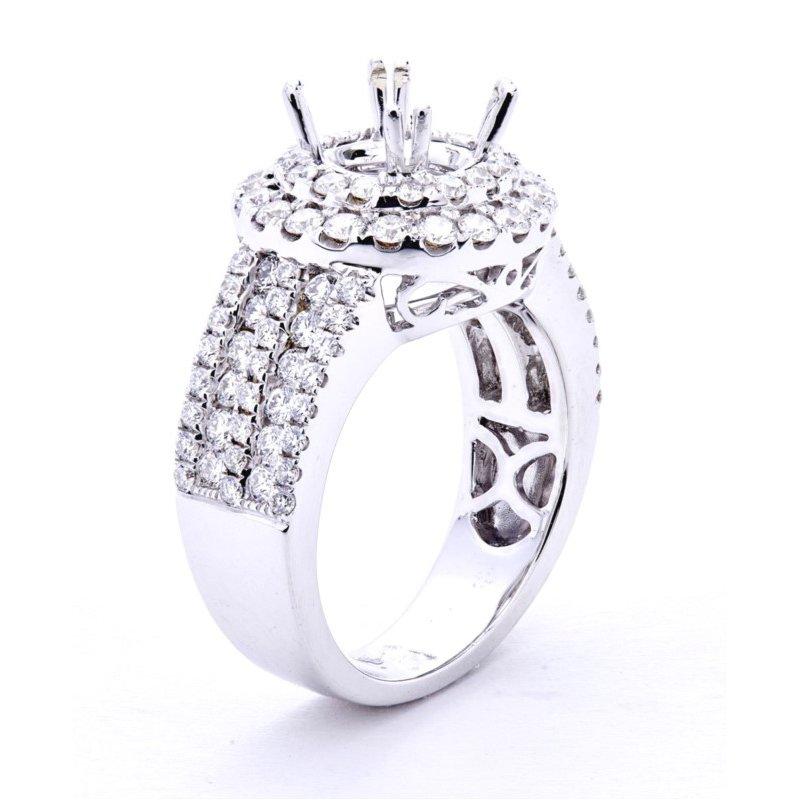Murphy Pitard Signature Collection Diamond Double Halo Multi-row Engagement Ring