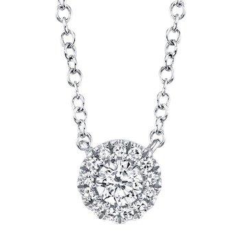 Diamond Halo Adjustable Necklace