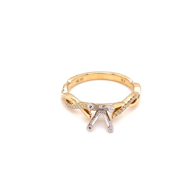 Murphy Pitard Signature Collection Round Diamond Twist Band Engagement Ring