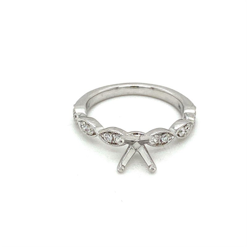 Murphy Pitard Signature Collection Diamond Accented Semi-Mount Engagement Ring