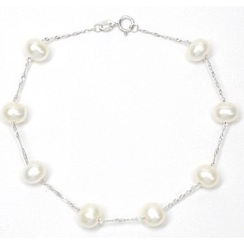 Tin Cup 6-6.5 Millimeter Pearl Bracelet